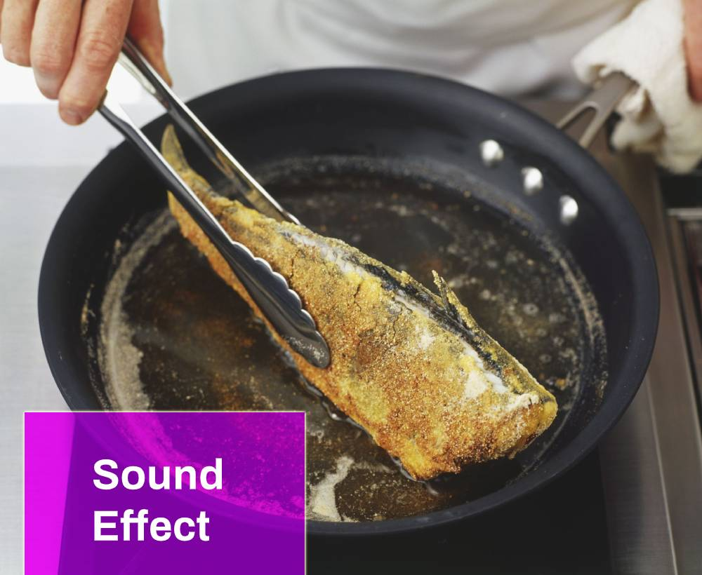 Frying Fish On a Hot Pan Sound