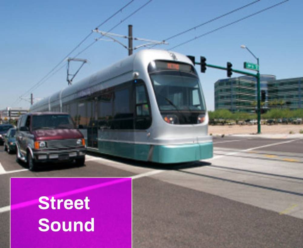 Train And Cars Passing Sound