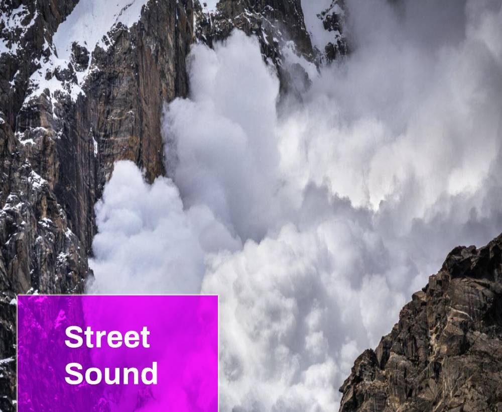Snow Rock Avalanche Sound